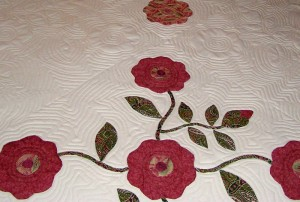 Red and Green Applique Quilt