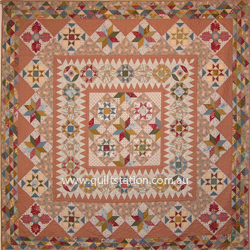 image of mid 19th cent star quilt by Margaret Mew