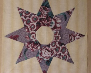 Sarah Morrell Quilt/ pieced and appliqued star block