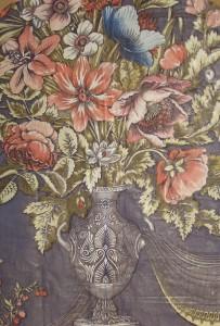 1940s Urn fabric panel