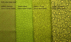 image of Little Sister's Quilt greens
