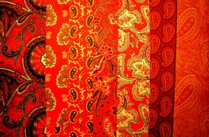 image of red paisleys