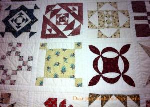 image of Dear Jane quilt detail