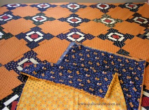 image of Cheddar and Indgo quilt