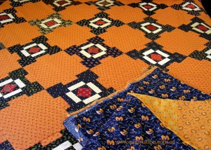 image of Cheddar and Indigo Quilt