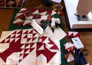 image of Pine tree quilt blocks