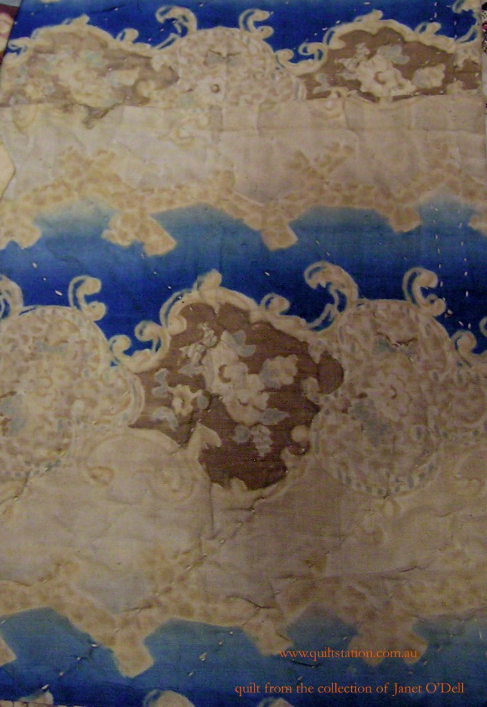 image of Prussian Blue and Buff fabric
