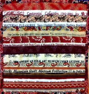 image of selvage quilt