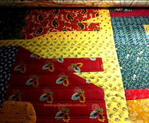 image of Quilting in progress