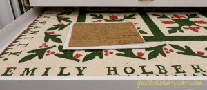 image of Emily Holbert quilt detail