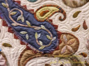 image of Applique Paisley detail