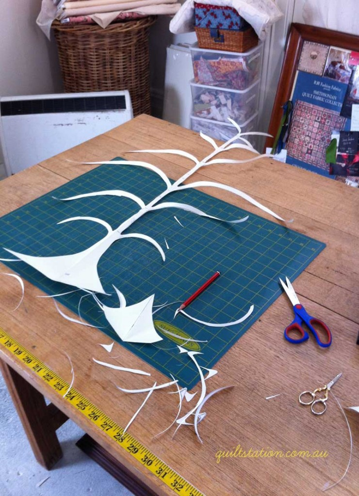 image of papercut tree