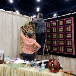 image of hanging quilts