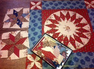 image of Medallion style quilt in progress