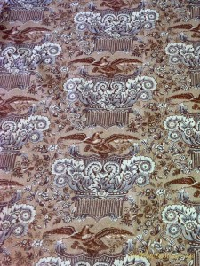 image of eagle pillar print fabric