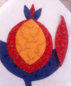 image of Applique pomegranates