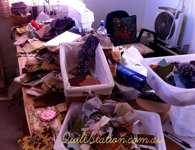 image of table mess
