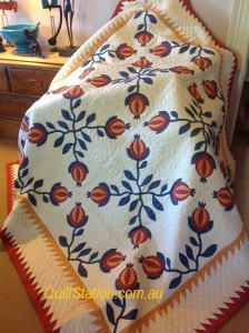 image of Pomegranate quilt