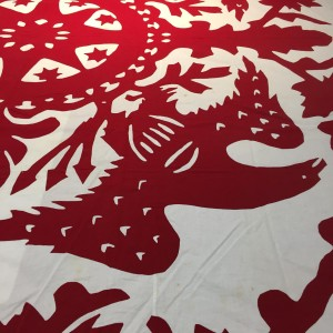 image of Rarotonga applique coverlet