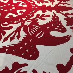 image of Rarotonga applique coverlet
