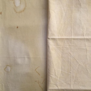 Left. Patty Harants print (Gold Star for that one) and Right. Marcus Bros Aged Muslin